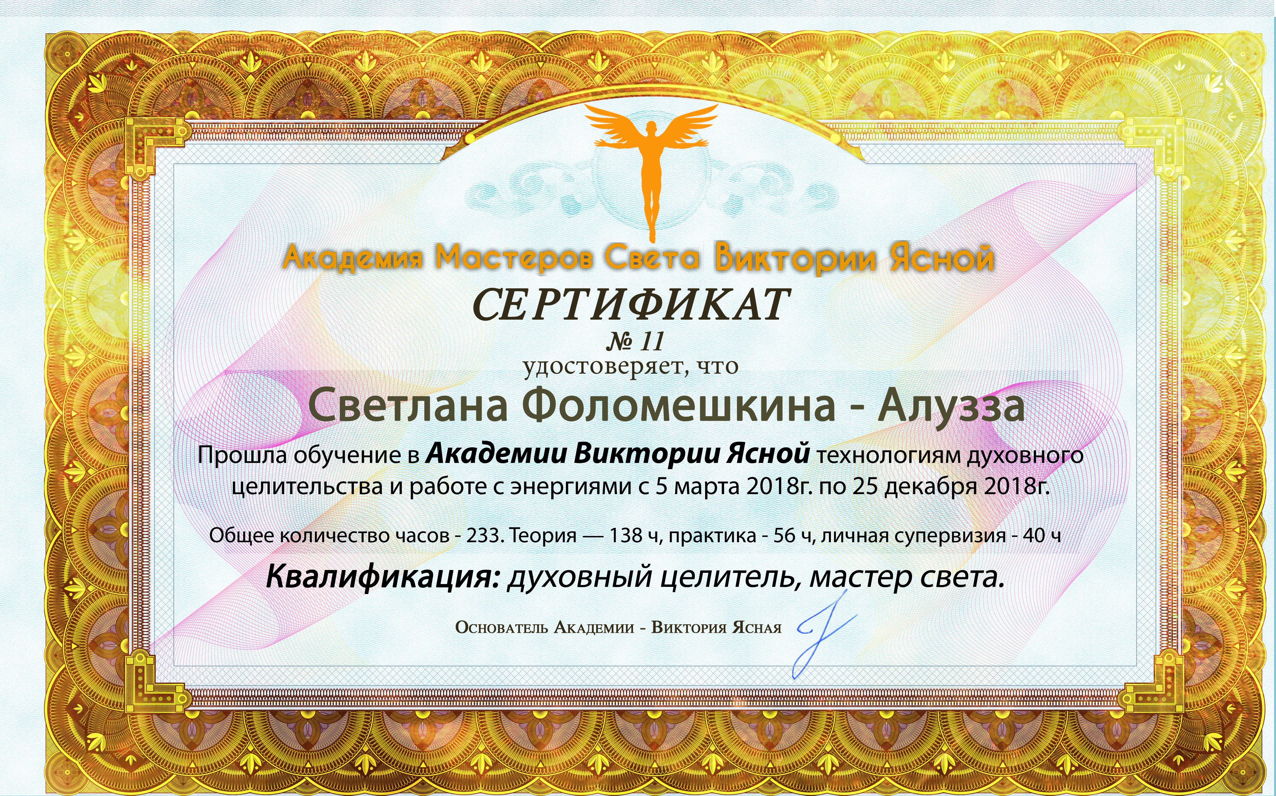 11 Светлана Фоломешкина (Алузза)